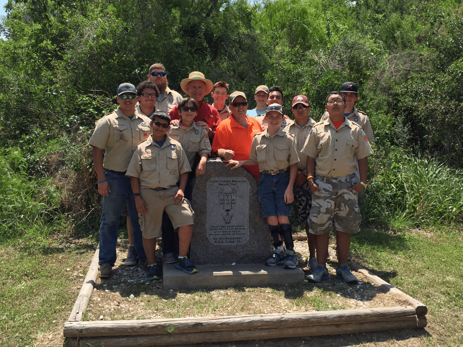 Mike Pusley with Boy Scouts